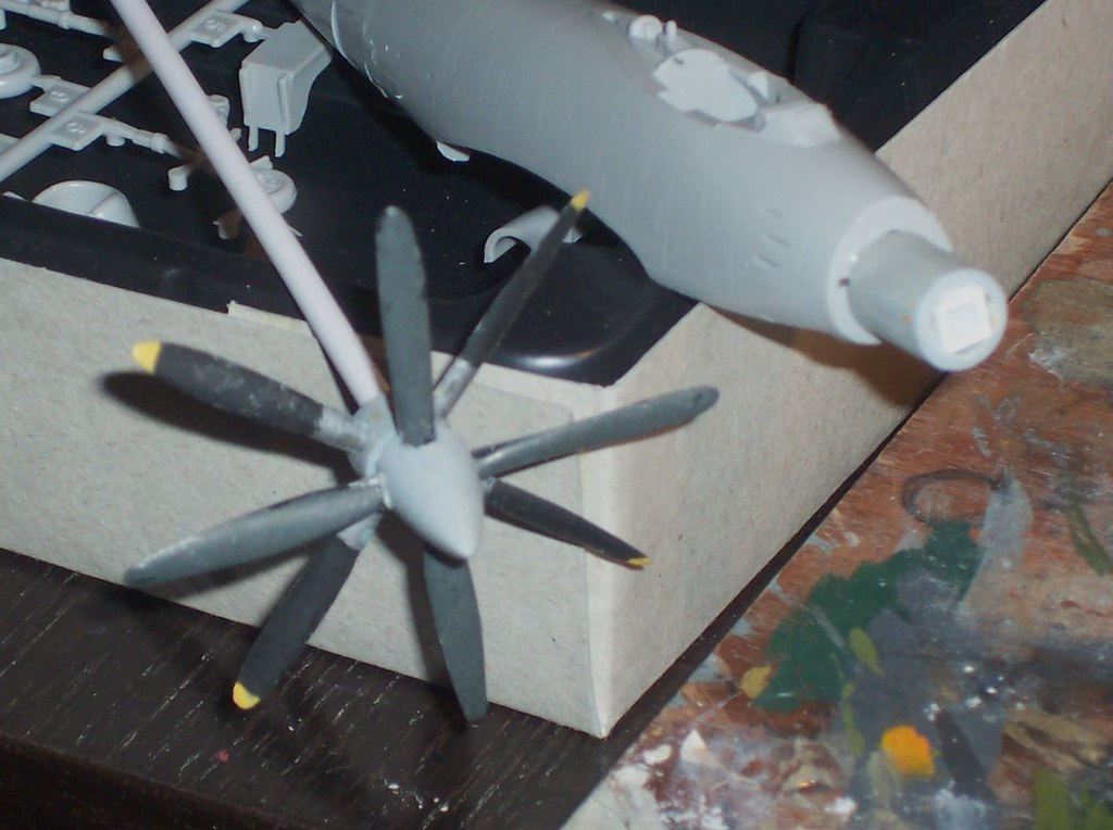 "1:72 [Inspired by] The Sky Crawlers - Stockum Air Force ""Fafnir Ausf. B"" turboprop fighter (kitbashing/scratch-built) - Work in progress"