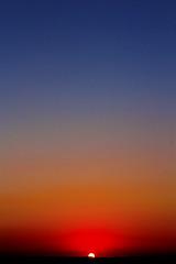 Orange and Blue (GPhace) Tags: sunset skyline landscape july jerseyshore seaislecity canonefs1855mmf3556 canonrebelxsi summer2011