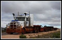 McArdle Freight (Tom O'Connor.) Tags: road lake station rock train truck canon lens eos star bay highway eagle south parking under twin down double stuart area western land adelaide hart rest trucks kit bound freight trucking mcardle truckers ernabella 1000d