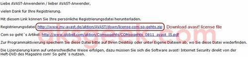 Avast Internet Security-license
