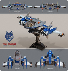 TF502 'STARWOLF' FAWS Tactical Fighter (Red Spacecat) Tags: lego space moc starfighter spacefighter starwolf