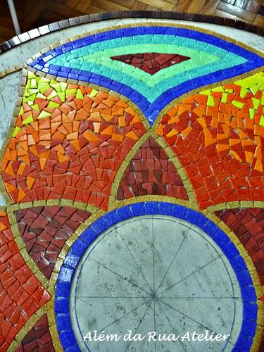 mandala em mosaico - detalhes