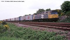 c.06/1988 - Mexborough. (53A Models) Tags: train diesel railway britishrail southyorkshire freighttrain intermodal class47 mexborough 47365 icidiamondjubilee freightlinertrain linertrain