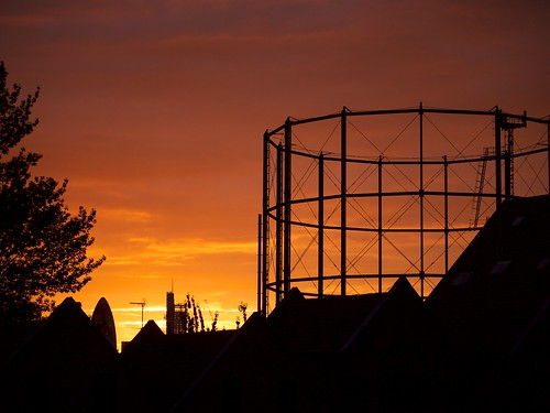 Sunset over the Gasometer