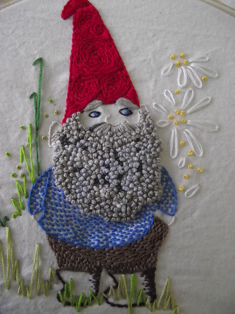 July Stitch-a-long (the gnome)