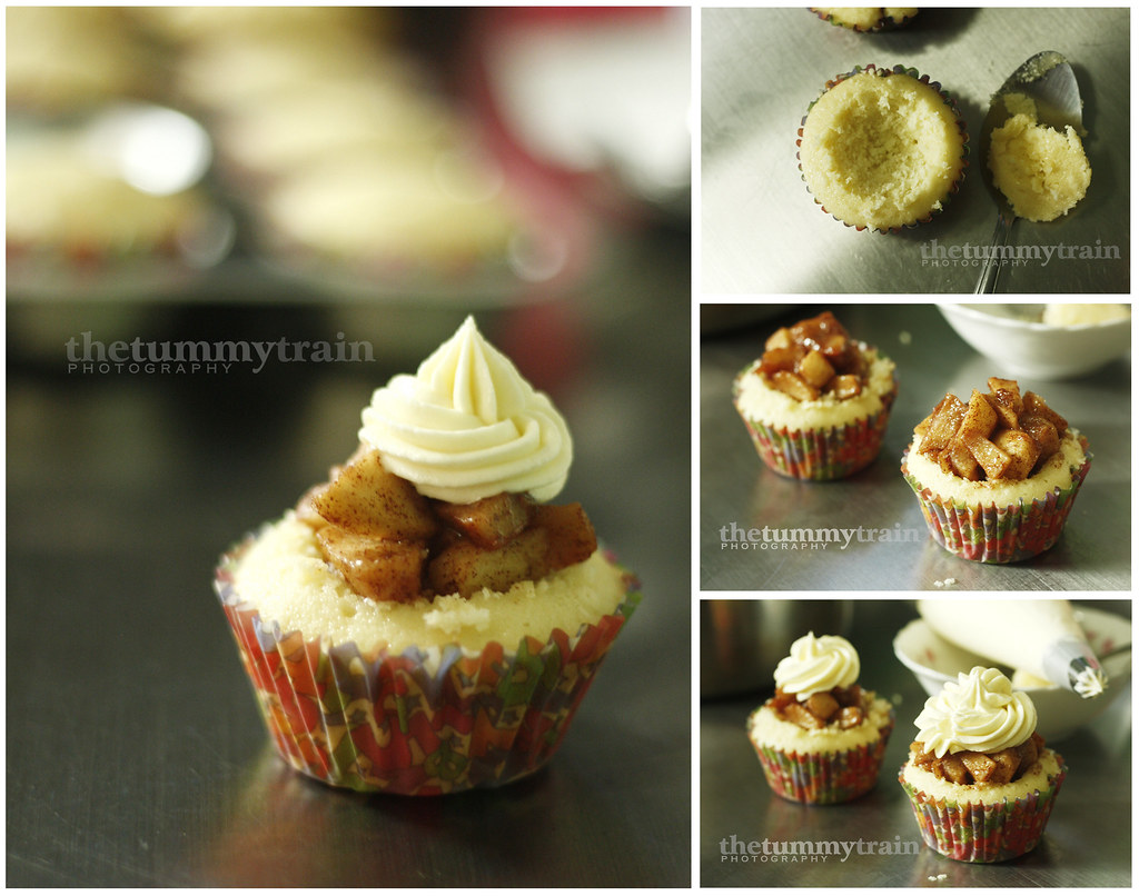 How to assemble the cupcakes