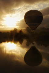 Explored Ballon (Z Snchez) Tags: sky reflection dawn photo sevilla photographer balloon amanecer cielo orton globo iberia     zusanchez gettyiberiasummer
