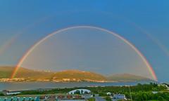 Night rainbow (Per Ivar Somby) Tags: night rainbow july troms regnbue 2011 touraroundtheworld kveldsregnbue nattregnbue