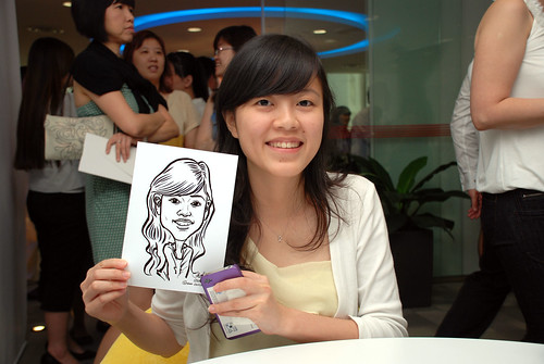 Caricature live sketching for Ricoh Roadshow - 24