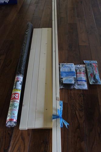 木製網戸の材料買ってきましたー