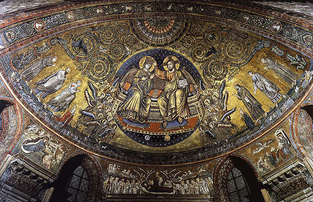 Mosaico de Coronacion de la Virgen