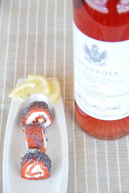 antipasto salmone e caprino con semi di papavero 2