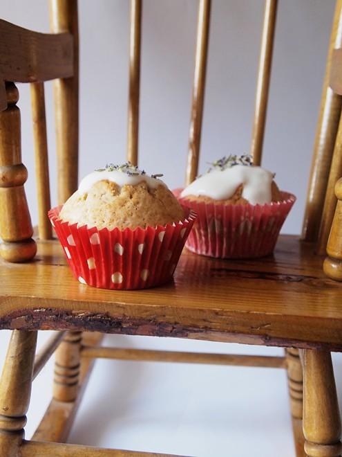 lavender cupcakes with yoghurt