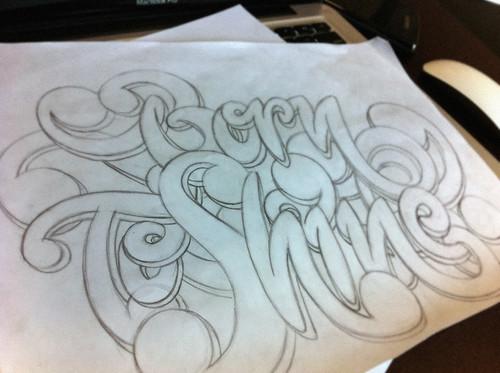 """Sketch para a ilustração do """"Born To Shine"""""""