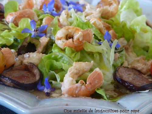 salade de langoustines à l'andouille et tilleul