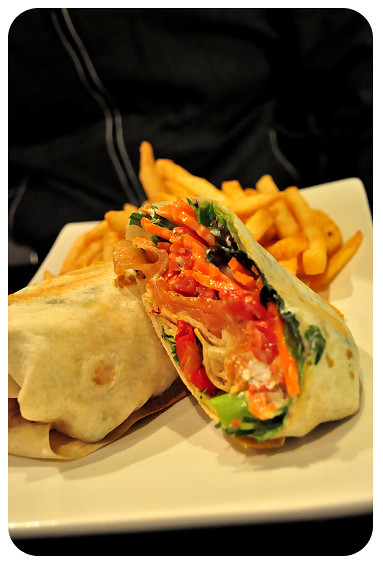 Angel Cafe Toowoomba: Smoked Salmon Wrap