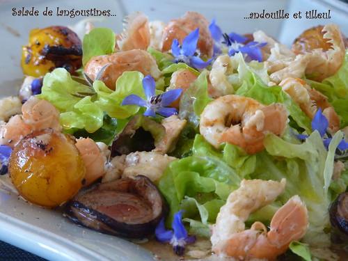salade de langoustines à l'andouille et au tilleul