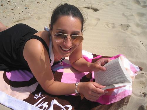 Mel enjoying the sunshine