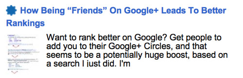 "How Being ""Friends"" On Google+ Leads To Better Rankings"