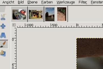 geöffnete Bilder als Tabs in GIMP 2.8
