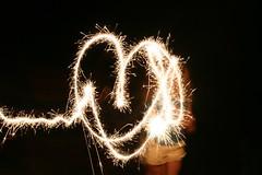 Light Painted Heart (designsbykari) Tags: summer usa lightpainting canon ada heart fireworks michigan unitedstatesofamerica sparklers pyrotechnics