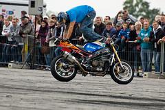 German Stunt Days 2011 (cosmoflash) Tags: germany days backwards biker rider crawling stunt airfield motorrad fahrer rückwärts flugfeld zerbst gsd2011
