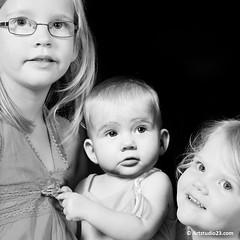6949_Artstudio23 (Artstudio23.com) Tags: girls portrait people baby white 3 girl sisters children photography fotografie child dress sister innocent kinderen kind photostudio portret pure wit zusje meisje puur kleren mensen fotograaf fotostudio zusjes onschuldig artstudio23 hansvannunen meisejs