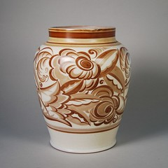 Poole Pottery Vase 1920s/30s 11'' (Psychoceramicus) Tags: uk 1920s art studio ceramic 1930s ceramics hand traditional bowl pots dorset vase pottery deco poole decorated thrown