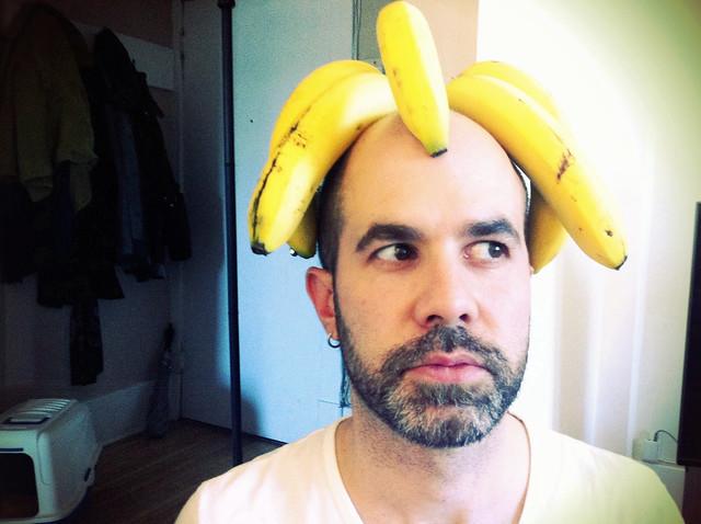 banana hat man