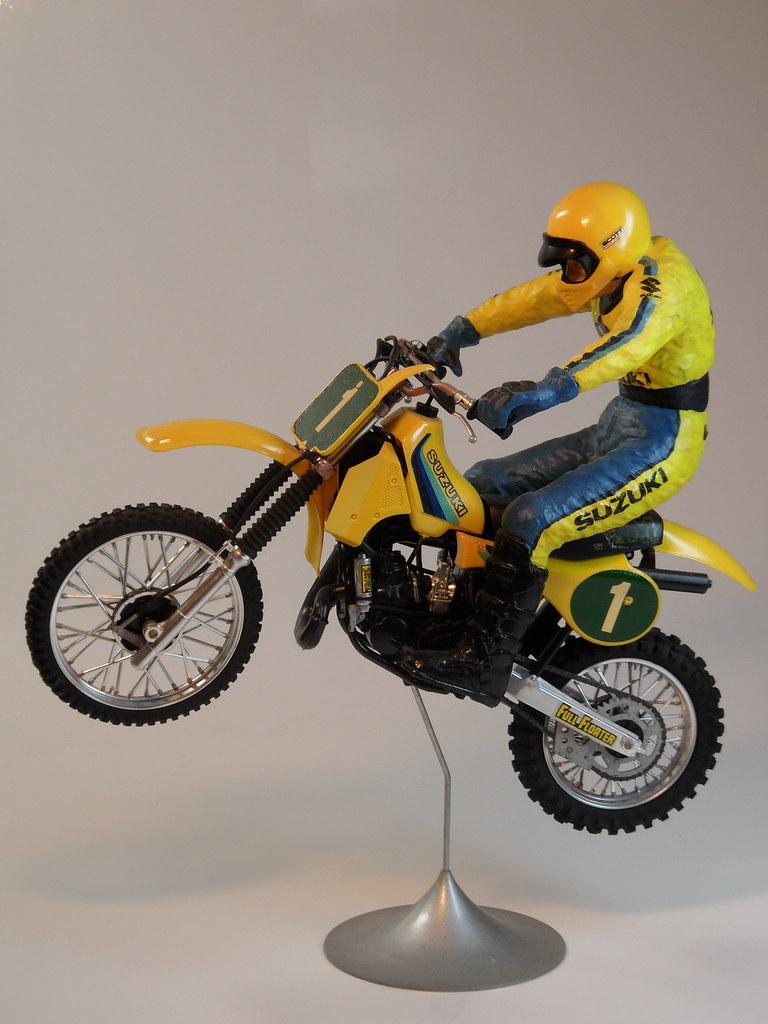 Suzuki RM250 Motorcrosser & Jumping Rider Built in 1983 & 1985