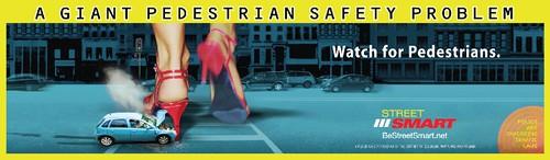 Street Smart Pedestrian safety ad, high heels