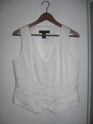 NY & Co. white vest
