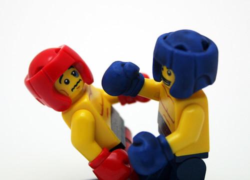 Custom minifig Red vs Blue