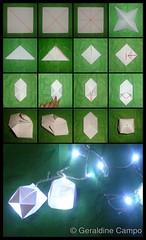 How to make an Origami Ball + Lights (Geral Lunar) Tags: ball paper lights luces origami decoration howto pelotas papel papiroflexia tutorial decoracion geraldinecampo
