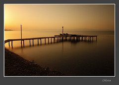 pier at sunrise... (metinsel) Tags: longexposure sunset sea turkey deniz sahil kartpostal solidnd updatecollection canoneosrebelt1i daarklands fotorafkurdu