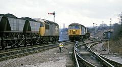 56124 & 56104 meet at Shirebrook Colliery (delticfan) Tags: shirebrook 56124 56104