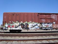 CUE UM LIB - ZS (4GSMAG_DOTCOM) Tags: california train graffiti kevin cue canyon american um harris zs lib fils northbay