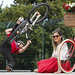 Vodafone and Electric Picnic Partner Up and Support a Wheelie Good Cause - Sharon Corr and DJ Sally Foran and professional mountain bike rider Grant Fielder