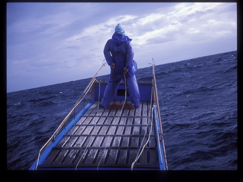 站在鏢魚台上的鏢手