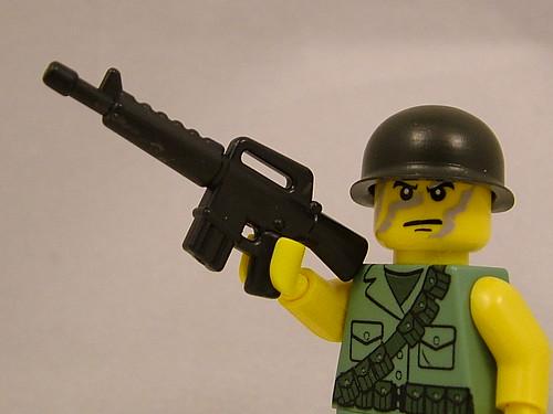 Custom minifig BrickArms at Brickfair 2011 - M16A1 prototype