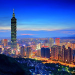台北101 - Night view of Taipei 101 - Taipei City