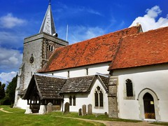Photo of Holy Cross Parish Church, Binsted, Hampshire.