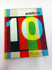 "Cover of ""Publiite 10"" by Pierre Monnerat, 1959. (Herb Lubalin Study Center) Tags: book swiss cover publicit 1959 pierremonnerat type:face=normalgrotesk normalgrotesk type:foundry=haas"