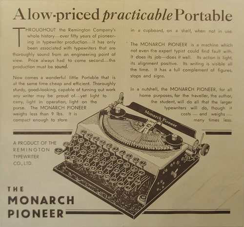 Monarch Pioneer ad