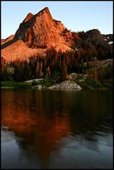Lake Blanche and Sundial Peak (Gumpher (Adam Christensen)) Tags: lake mountains utah wasatch peak sundial blanche sundialpeak lakeblanche
