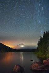 Night Lights (Gary Randall) Tags: longexposure reflection night oregon stars startrails trilliumlake governmentcamp garyrandall dsc67092
