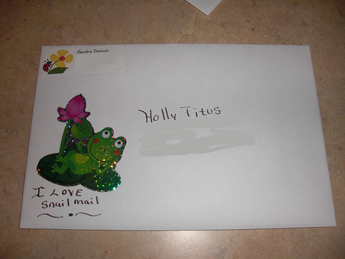 Sent ltr Holly Titus (pen friend)