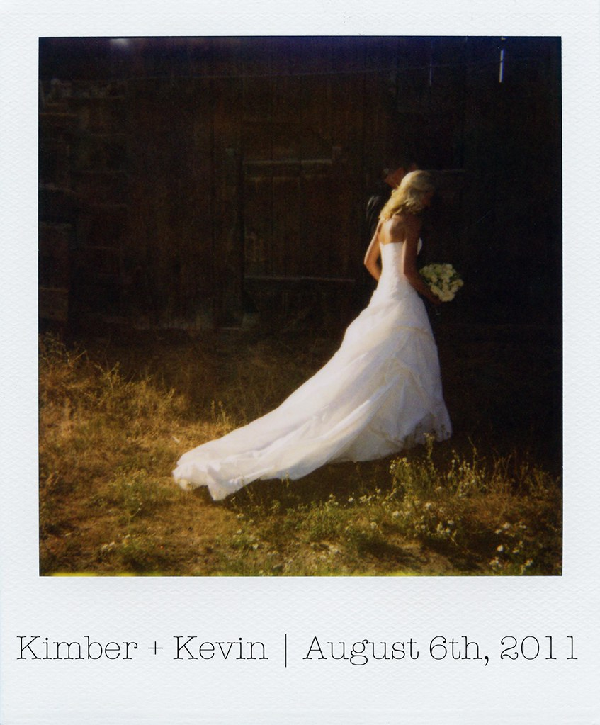 Kimber Kevin Wedding polaroid photo