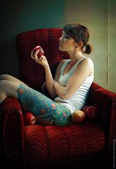 forbidden fruit (basistka) Tags: woman tattoo fruit ink poland forbidden dorota basistka leniaska