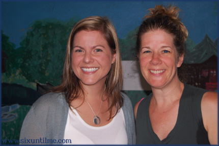 Kerri Sparling, Dar Williams, and a painting of the pond that supposedly has two snapping turtles in it.
